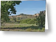 Hills In Peters Canyon Greeting Card