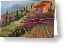 Hills Of Lavender Greeting Card