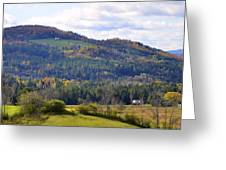 Hills Of Vermont Greeting Card