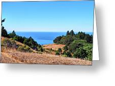 Hills To The Sea Greeting Card