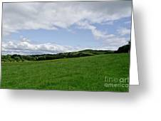 Hills Touching The Sky. Greeting Card