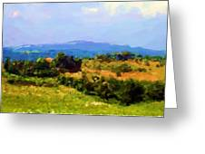 Hills Tuscany Greeting Card