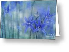 Hillside Blues Greeting Card by Priska Wettstein