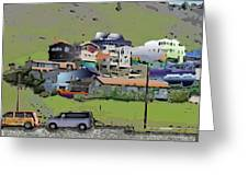 Hillside City Greeting Card