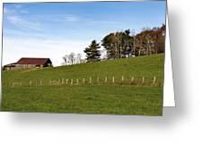 Hillside Farming Greeting Card