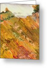 Hillside Flowers I Greeting Card