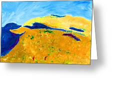 Hillside Impression Greeting Card