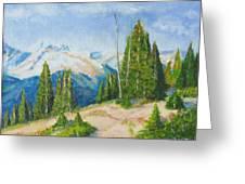 Hillside In Spring, 9x12, Oil, '07 Greeting Card