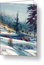 Hillside In Winter Greeting Card