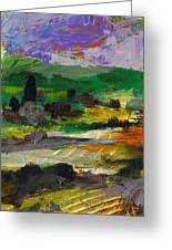 Hillside Pastures Greeting Card