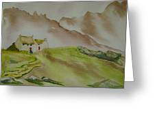 Hillside Retreat Greeting Card