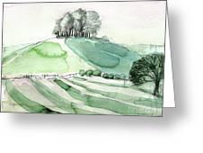 Hilltop Copse Greeting Card