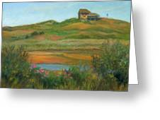 Hilltop Houses Cape Cod Greeting Card