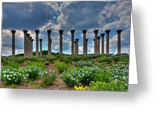 Hilltop Pillars Greeting Card by Kevin Hill