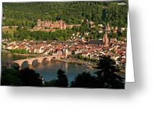 Hilltop View - Heidelberg Castle Greeting Card