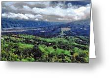 Hilly Terrain Greeting Card