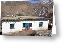 Himalayan Homestead, Muktinath, Nepal Greeting Card