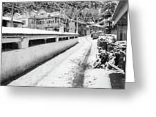 Himalayan Winter Scene Greeting Card