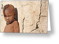 Himba Boy Greeting Card