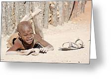 Himba Boy With Sandal Greeting Card