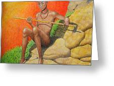 Himba Omu-atje Greeting Card