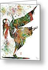 Hindu Dancer Greeting Card