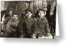 Hine: Breaker Boys, 1911 Greeting Card