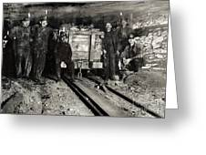 Hine: Coal Miners, 1911 Greeting Card