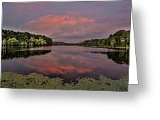 Hinson Lake Clouds Greeting Card