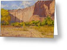 Hint Of Autumn Canyon De Chelly Greeting Card