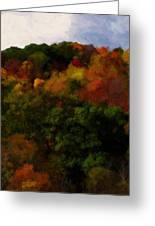 Hint Of Fall Color Painting Greeting Card