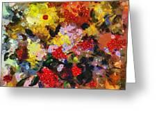 Hint Of Klimt Greeting Card