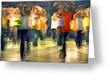 Hip Hop Dance Night Greeting Card