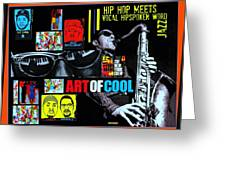 Hip Hop Meets Vocal Hipspoken' Word Jazz Greeting Card