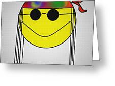 Hippie Face Greeting Card