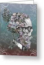Hipster Floral Skull 2 Greeting Card