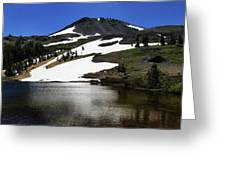 Hiram Peak Glaciers Greeting Card