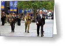 His Excellency General The Honourable David Hurley Greeting Card