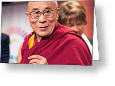 His Holiness The 14th Dalai Lama Photo By Christopher Michel 2012 Greeting Card