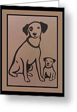His Masters Voice - Nipper And Chipper Greeting Card
