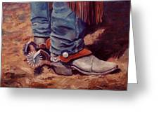 His Silver Spurs Painting Cowboy Art Greeting Card