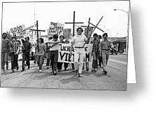 Hispanic Anti-viet Nam War March 1 Tucson Arizona 1971 Greeting Card