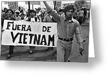 Hispanic Anti-viet Nam War March 2 Tucson Arizona 1971 Greeting Card
