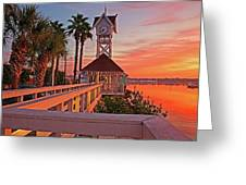 Historic Bridge Street Pier Sunrise Greeting Card