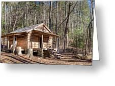 Historic Cabin Greeting Card