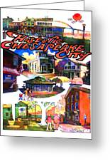 Historic Chesapeake City Poster Greeting Card