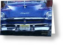 Historic Chrysler Front End Greeting Card
