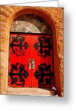 Historic Church Doors Greeting Card
