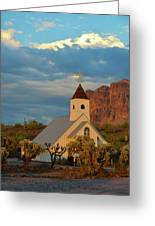 Historic Church In Superstition Mountain State Park Greeting Card