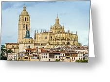 Historic City Of Segovia Greeting Card